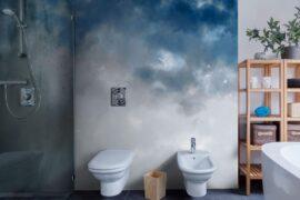 Watercolor Ombre Blue & Grey
